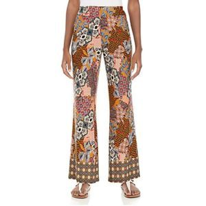 New Directions Multi Patchwork Soft Pants